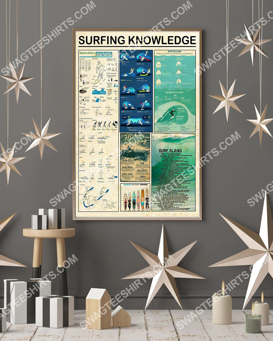 vintage surfing knowledge wall art poster 3(1)