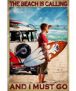 vintage the beach is calling and i must go poster 1(1)