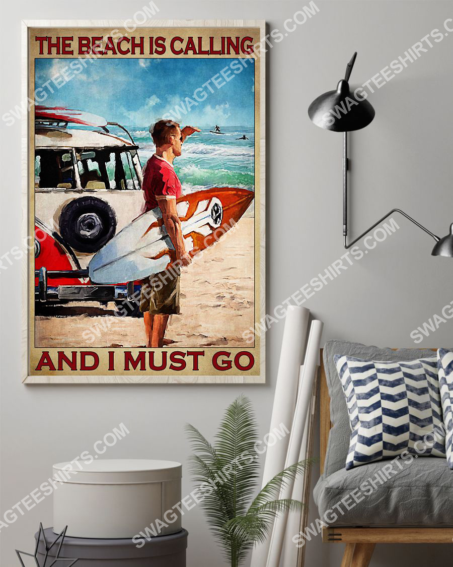vintage the beach is calling and i must go poster 2(1)