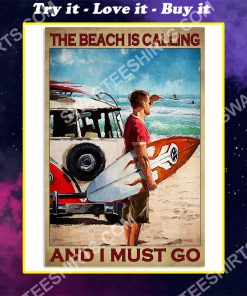 vintage the beach is calling and i must go poster