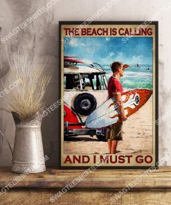 vintage the beach is calling and i must go poster 3(1)