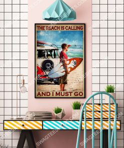 vintage the beach is calling and i must go poster 4(1)