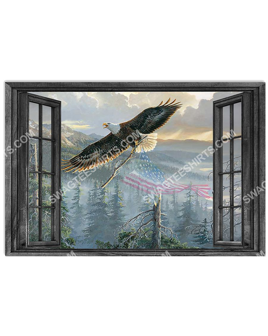 wall decor eagle by the window poster 1(1)
