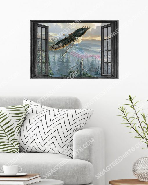 wall decor eagle by the window poster 2(1)