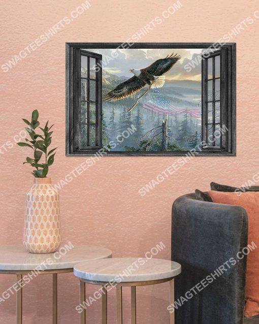 wall decor eagle by the window poster 4(1)