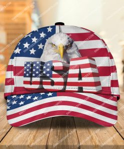 bald eagle american flag all over printed classic cap 2