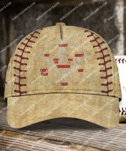 baseball lover all over printed classic cap 2 - Copy (2)