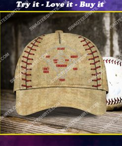 baseball lover all over printed classic cap