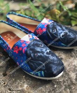 black labrador and flower all over printed toms shoes 2(1) - Copy