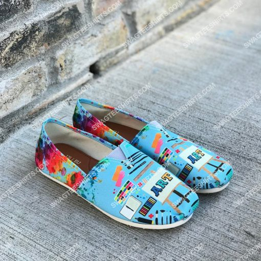 colorful art teacher all over printed toms shoes 2(1)