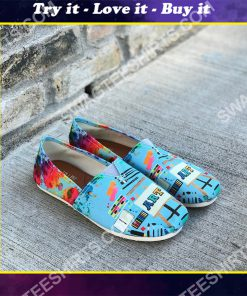 colorful art teacher all over printed toms shoes