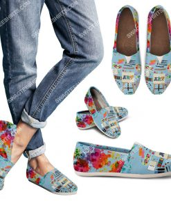 colorful art teacher all over printed toms shoes 3(1) - Copy