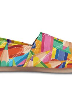 colorful pencils all over printed toms shoes 3(1)