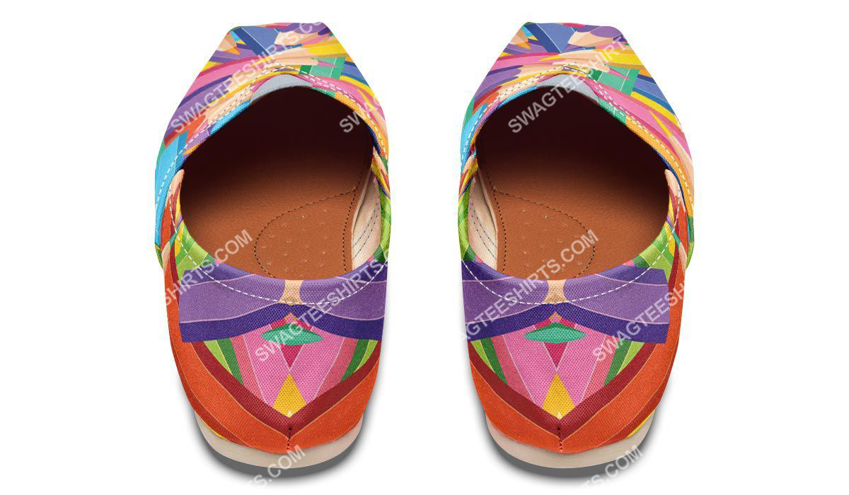 colorful pencils all over printed toms shoes 4(1)