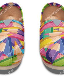 colorful pencils all over printed toms shoes 5(1)