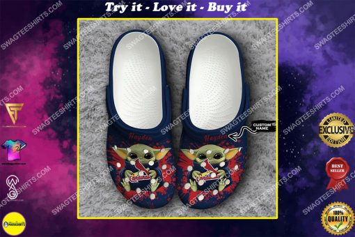 custom baby yoda hold st louis cardinals all over printed crocs