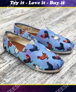 farm animal chicken all over printed toms shoes