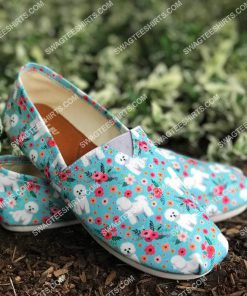 floral bichon frise all over printed toms shoes 2(1) - Copy