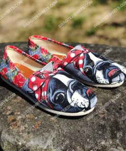 floral boston terrier all over printed toms shoes 2(1) - Copy