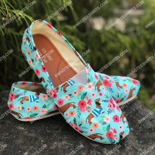 floral dachshund lover all over printed toms shoes 2(1) - Copy