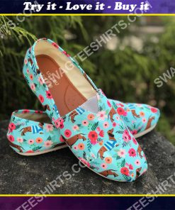 floral dachshund lover all over printed toms shoes
