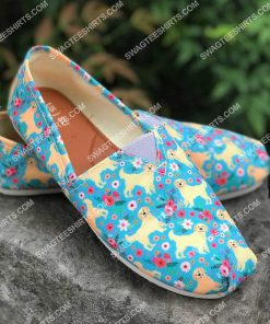 floral golden retriever dogs lover all over printed toms shoes 2(1) - Copy