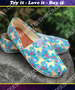floral golden retriever dogs lover all over printed toms shoes