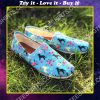 floral labrador retriever dogs lover all over printed toms shoes