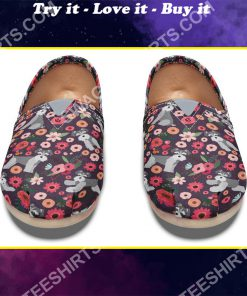 floral schnauzer all over printed toms shoes