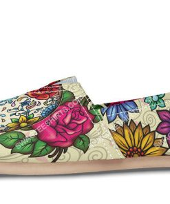 floral sugar skull all over printed toms shoes 2(1)