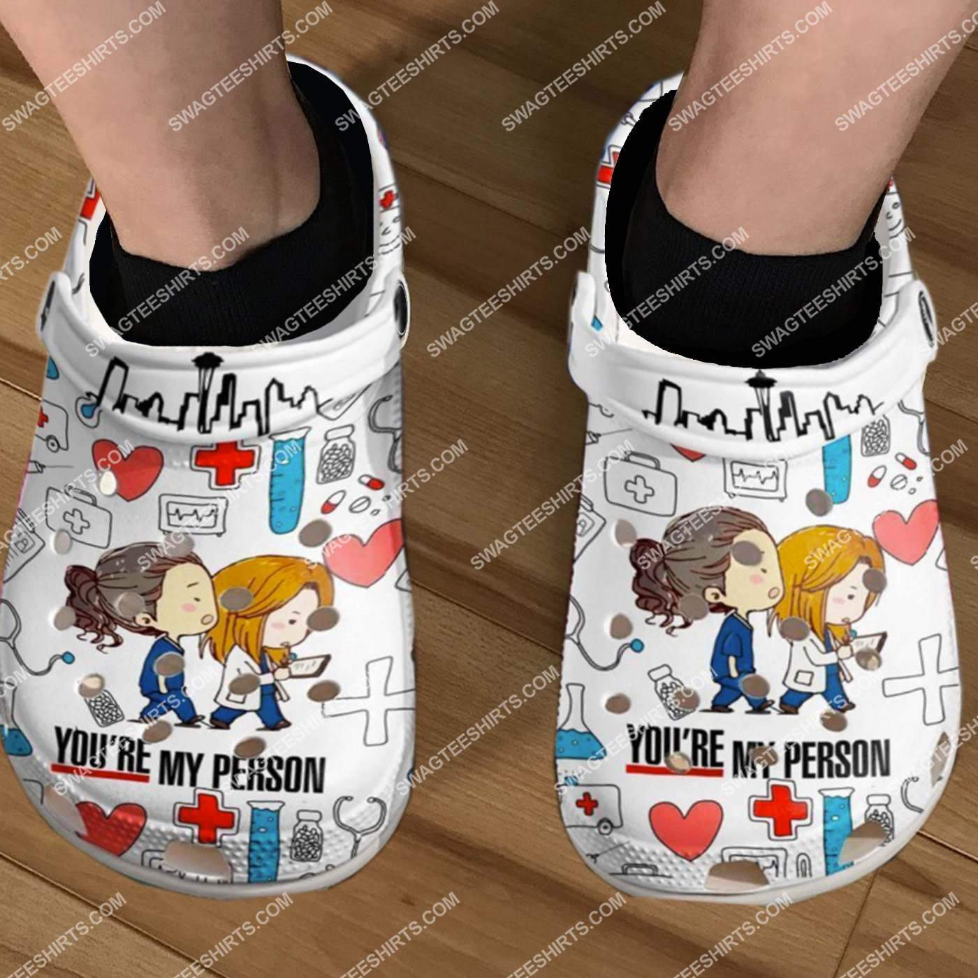 grey's anatomy you're my person all over printed crocs 5(1)