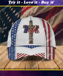 happy independence day God bless america all over printed classic cap
