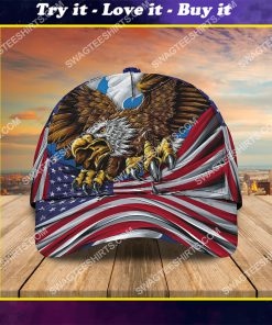 happy independence day america all over printed classic cap