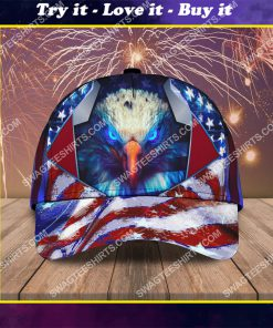 happy independence day american all over printed classic cap