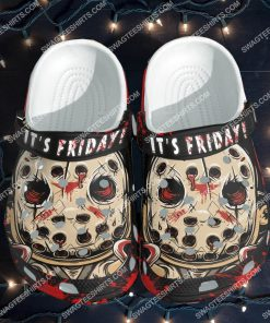 jason voorhees it's friday all over printed crocs 1(1)