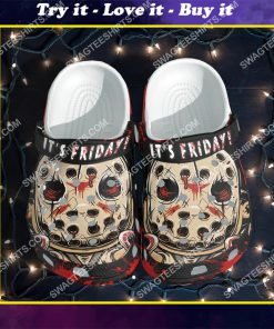 jason voorhees it's friday all over printed crocs