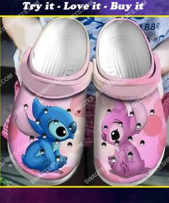 lilo and stitch all over printed crocs