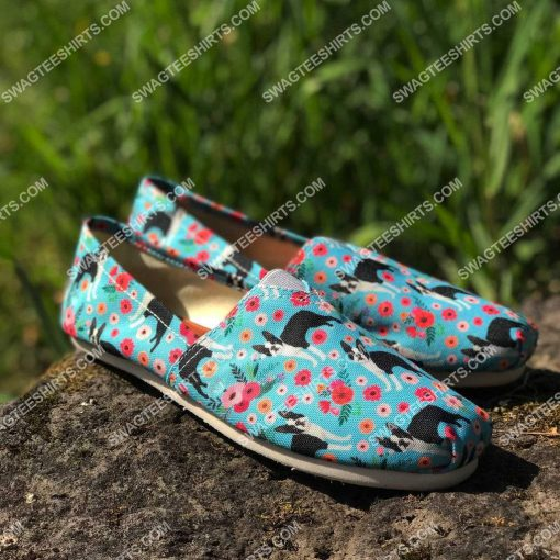 retro boston terrier dogs lover all over printed toms shoes 2(1)