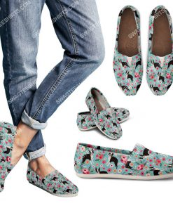 retro boston terrier dogs lover all over printed toms shoes 3(1)
