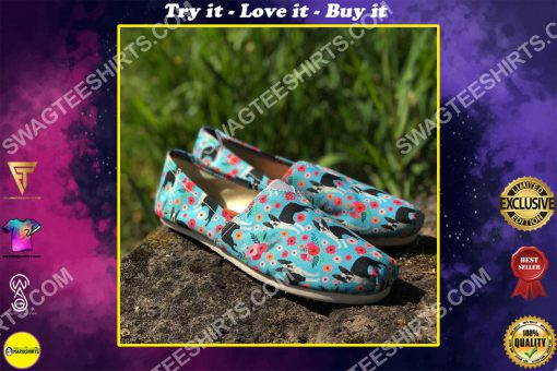 retro boston terrier dogs lover all over printed toms shoes