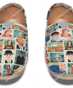 retro famous painters all over printed toms shoes 2(1)