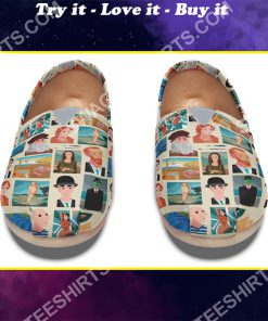 retro famous painters all over printed toms shoes