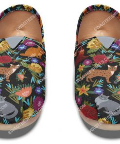 retro floral cats lover all over printed toms shoes 2(1)
