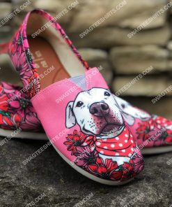 retro pit bull flower all over printed toms shoes 2(1) - Copy