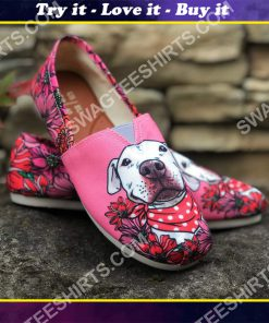 retro pit bull flower all over printed toms shoes