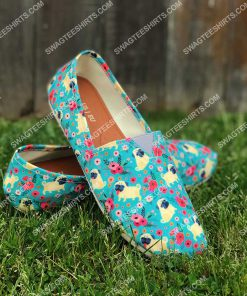 retro pug dogs lover all over printed toms shoes 2(1) - Copy