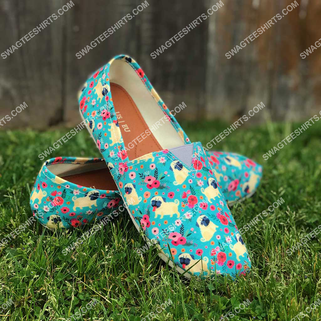 retro pug dogs lover all over printed toms shoes 2(1)