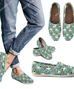 retro pug dogs lover all over printed toms shoes 3(1)