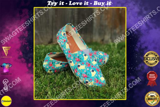 retro pug dogs lover all over printed toms shoes