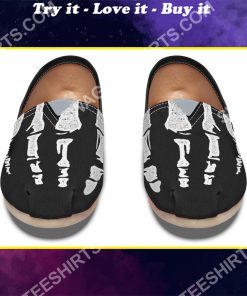 retro skeleton hands all over printed toms shoes